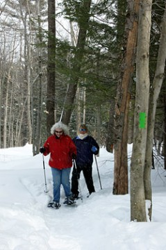 Snowshoeing is a favorite way to enjoy the sanctuary in winter